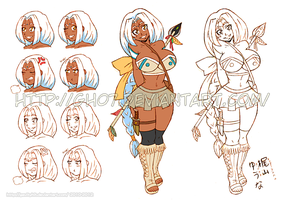 Old Character Design Sheet Luna by gh07