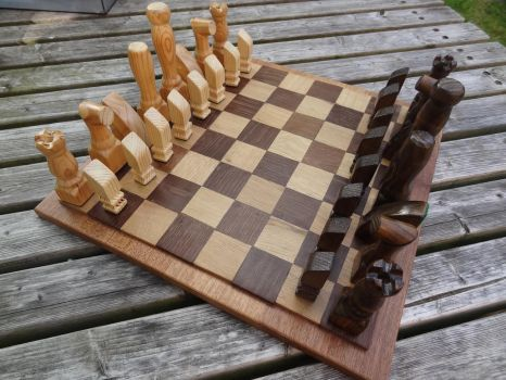 Handmade Recycled Chess Set by MadeInTheMancave