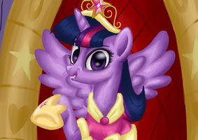 Freaky Looking Twilight Sparkle by TheCheeseburger