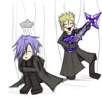 Zexion and Demyx Puppets by DestituteDreamer