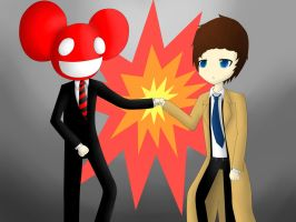 Deadmau5 and Castiel by SqueakFace