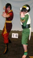 Toph and Zuko by BengalTiger4
