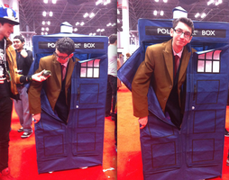 NYCC 2012- 10th Doctor with Tardis by SweeneyT-DemonBarber