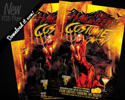 Hell Halloween Costume Party | Flyer Template PSD by REMAKNED