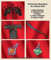 Items 02 - Warlord  CCG by Shockbolt