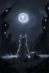 cat+moon by Henkkab