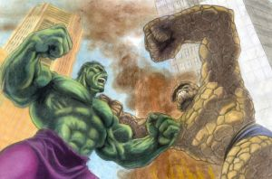 Hulk vs Thing by Pencil-Pusher1