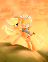 Applejack and the Milkybar Kid by ssnugglepunk