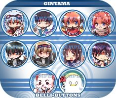 GINTAMA Button set by jinyjin