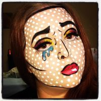 pop art makeup 2 by ScarahScrewdriveR