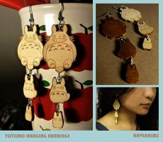 Totoro Dangling earrings by Havenaims