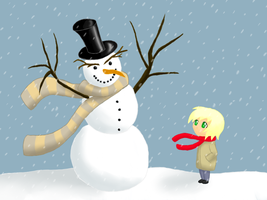 Snowman by Rose-Layon
