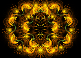 golden flower pattern by Andrea1981G