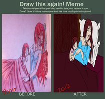 MeMe: Before and After: Rexian and Marlene by RisenEternalFlame