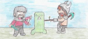 xephos, honeydew, and the creeper by mudkip03345