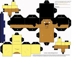 Cleveland Brown - Cubeecraft by The-Cubeecrafter