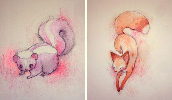 Crayon Friends by lindsaycampbell