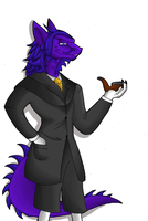 Sly C. - His suit is... by KaylaTheDragoness