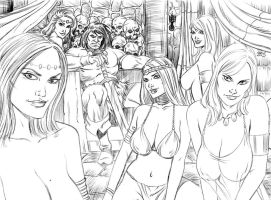 CONAN THE BARBARIAN AND HIS WOMEN BY SPEARS by markman777