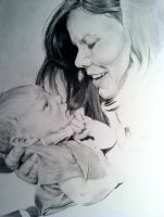 WIP 4: Mother and Child Commission by emueller