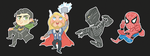 More Marvel Stickers! by malphigus