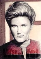 Kate Mulgrew miniature by whu-wei