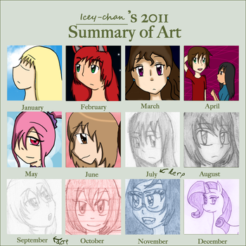 2011 Summary of Art by Icey-chan