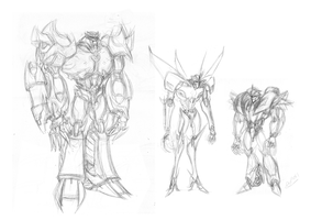 Ref Test Sketch Decepticons by BLACK-HEART-SPIRAL