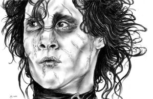 Edward Scissorhands Portrait 1 by MonsterTeacup