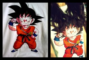 Goku - T-shirt by madziulkabr