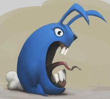Angry Bunny by p00se2