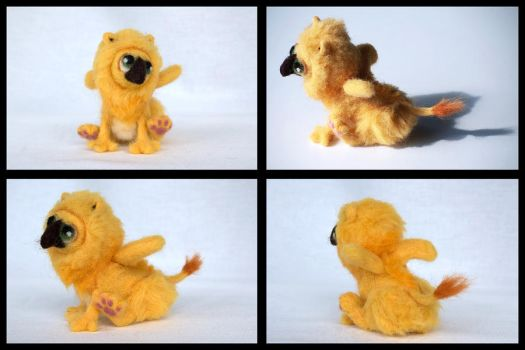 Yellow Gryphlet Collage by LSstudio