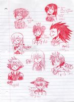 kingdom hearts sketches by princessofDisney27