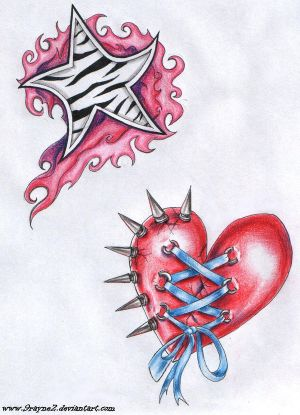 heart star tattoos