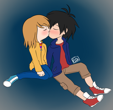 Commission Hiro x Riley by PuffyCookie