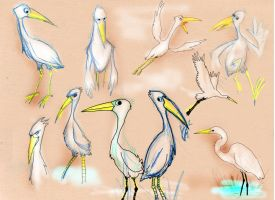 storks by richard-chin