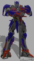 Optimus with Sword by isterini
