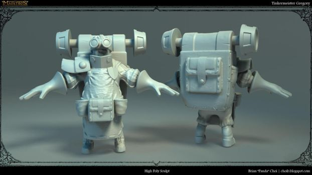 Tinkermeister Gregory High Polygonal Sculpt by PandaProduction
