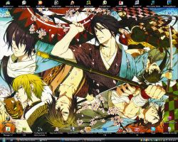 Hakuouki desktop by Marira