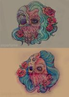 sugarskulltattodesign by flowwwer