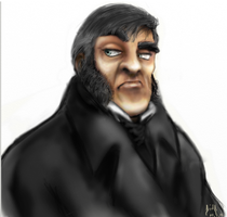 Javert Cartoon Colored *UPDATED* by Queenera