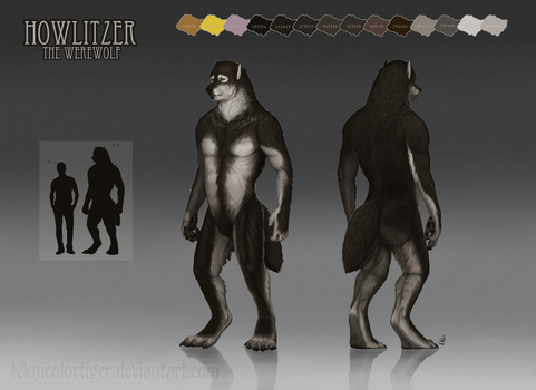 Reference Sheet: Howlitzer by TeknicolorTiger