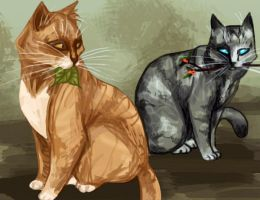 Leafpool and Jayfeather by Ospreyghost13