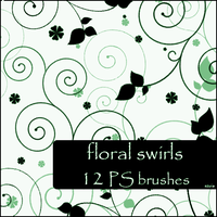 floral swirls brushes by szuia