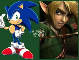 Sonic Vs Link by FrankWick