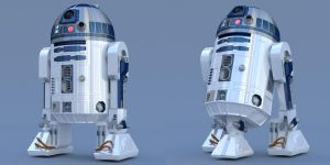 R2-D2 Free 3D Blender Model Conversion Ver 1-0 by PixelOz