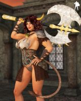Lux-Style Commission: Minotaur Princess Excellia by Supro3D