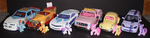 Mane 6 Cars!!!! by TheRockinStallion