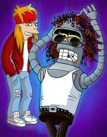 Guns N' Roses / Futurama by AnnikeAndrews