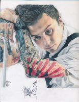 Frank Iero (got it signed!) by ArtsyKD13